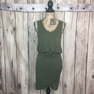 Banana Republic Green VISCOSE Bodycon Peplum Dress